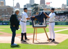 Jim Leyland Ceremony Detroit Tigers 2014.  Photo by Mark Cunningham.