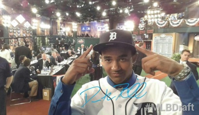 The Tigers selected Derek Hill in the first round of the MLB Draft.
